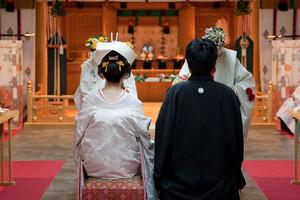 スーパーカメラマン大川さん ファシーノ 神前式 結婚式 白無垢 角隠し