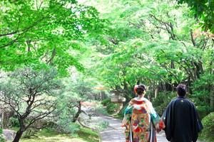 スーパーカメラマン大川さん ファシーノ 和装 前撮り 友泉亭公園
