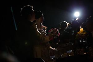 スーパーカメラマン大川さん ファシーノ アルカディア 結婚式 披露宴 キャンドルサービス