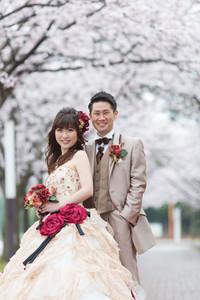 スーパーカメラマン大川さん ファシーノ 洋装 前撮り 桜シーズン