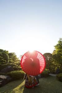 和装 前撮り 日本庭園