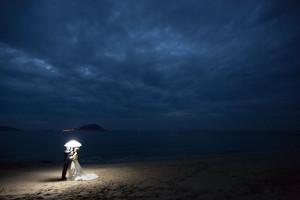 スーパーカメラマン大川さん ファシーノ 結婚式 前撮り 海ロケ ウェディングドレス