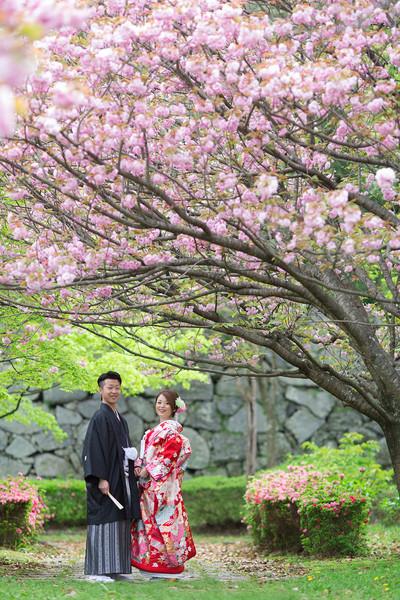 スーパーカメラマン大川さん ファシーノ 和装 前撮り 八重桜 桜ロケ