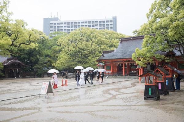 スーパーカメラマン大川さん ファシーノ 住吉神社 神前式
