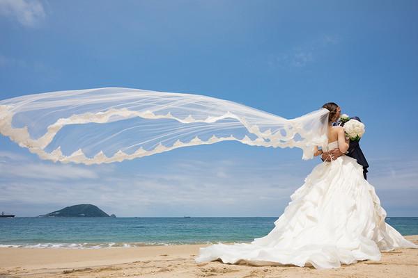 スーパーカメラマン大川さん ファシーノ 洋装前撮り ウェディングドレス ロケーション撮影 海ロケ