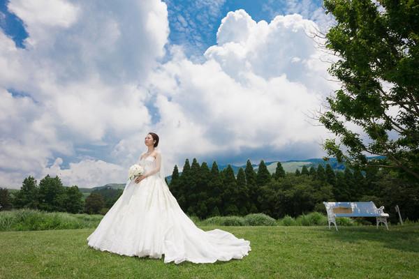 スーパーカメラマン大川さん ファシーノ 阿蘇 結婚式前撮り ウェディングドレス 洋装前撮り