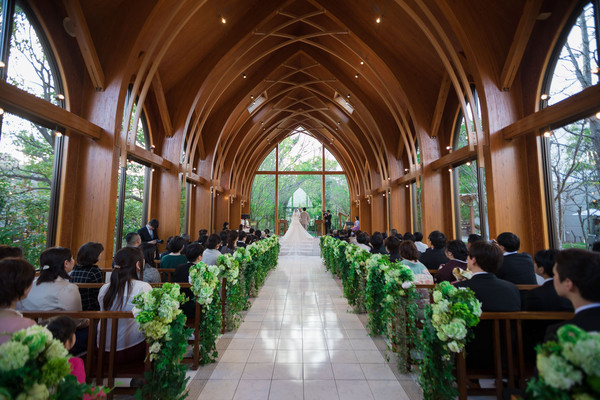 ララシャンス博多の森 結婚式当日スナップ チャペル ファシーノ スーパーカメラマン大川さん