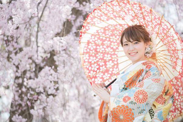 結婚式前撮り ロケーションフォト 桜 色打掛 和装前撮り ファシーノ スーパーカメラマン大川