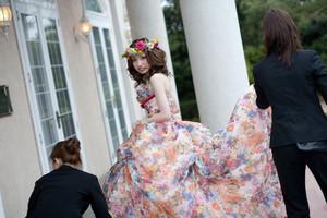 スーパーカメラマン大川さん ファシーノ 披露宴 アルカディア 結婚式 カラードレス