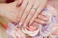 結婚指輪 ブーケ ネイル